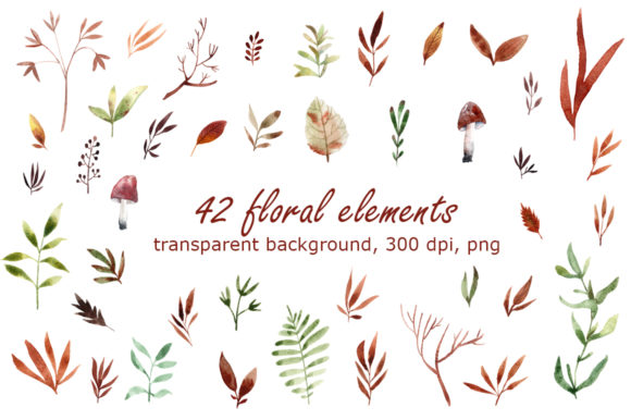 64 watercolor free elements !
