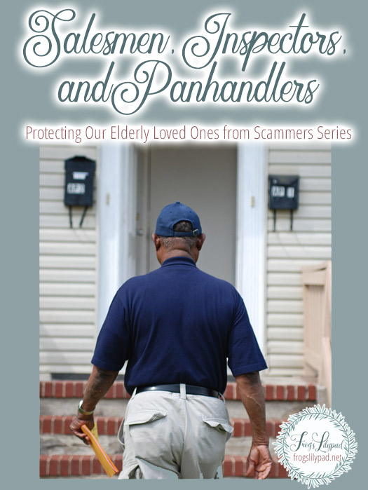 Salesmen, Inspectors, Panhandlers: Protecting Our Elderly Loved Ones from Scammers Series #family #scam #elderly