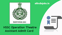 HSSC Operation Theatre Assistant Admit Card