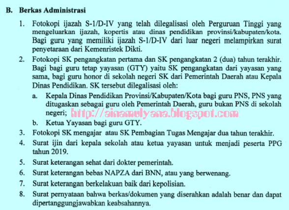Pada posting kali ini Admin akan membagikan info terkait  PERSYARATAN DAN JADWAL PPG DALAM JABATAN TAHUN 2019 SESUAI SURAT EDARAN DIRJEN GTK NOMOR 22063/B.B4/GT/2018
