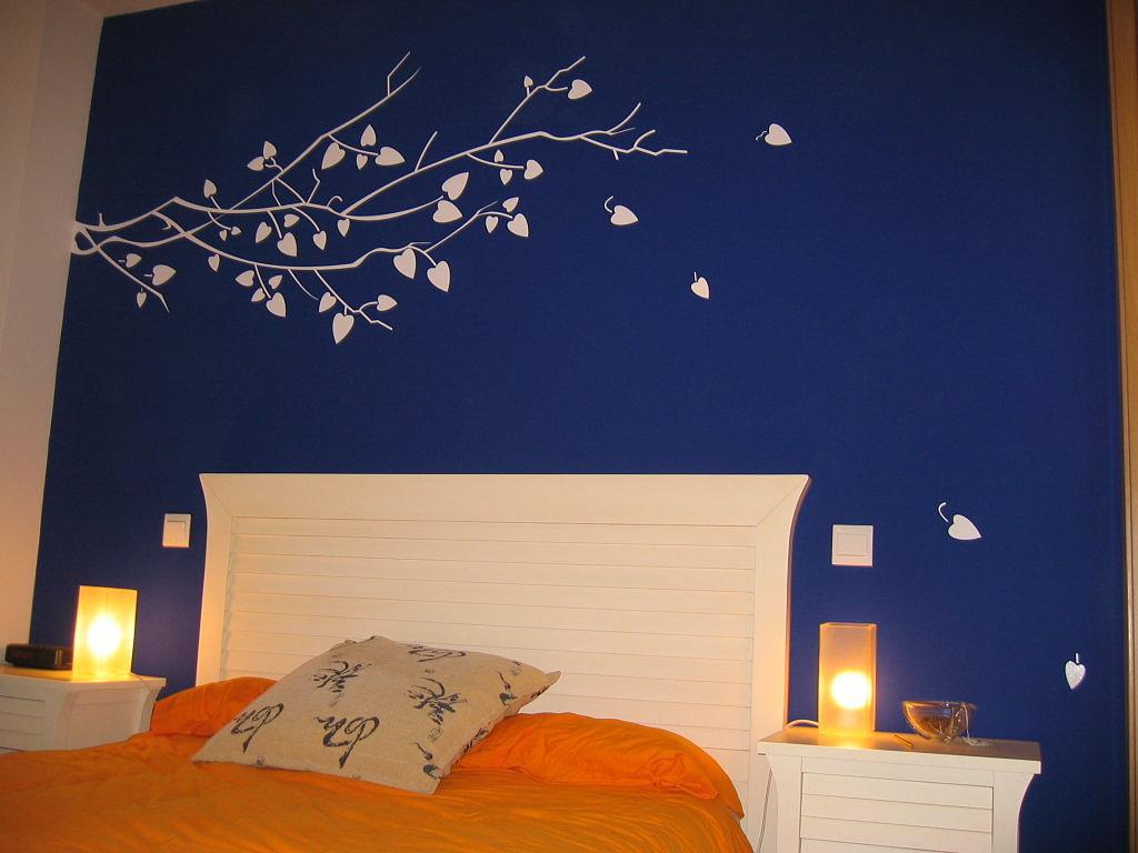 Decoracion Actual De Moda Paredes Azul Marino - Paredes-pintadas-de-azul