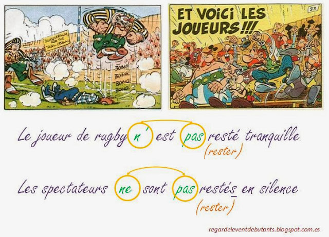 Passé composé - przykładowe przeczenia w czasie passé composé 2 - Francuski przy kawie