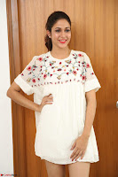 Lavanya Tripathi in Summer Style Spicy Short White Dress at her Interview  Exclusive 277.JPG