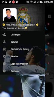 BBM Mod Transparan Cristiano Ronaldo  V3.2.0.6 Apk (BBM Mod CR7 Real Madrid)