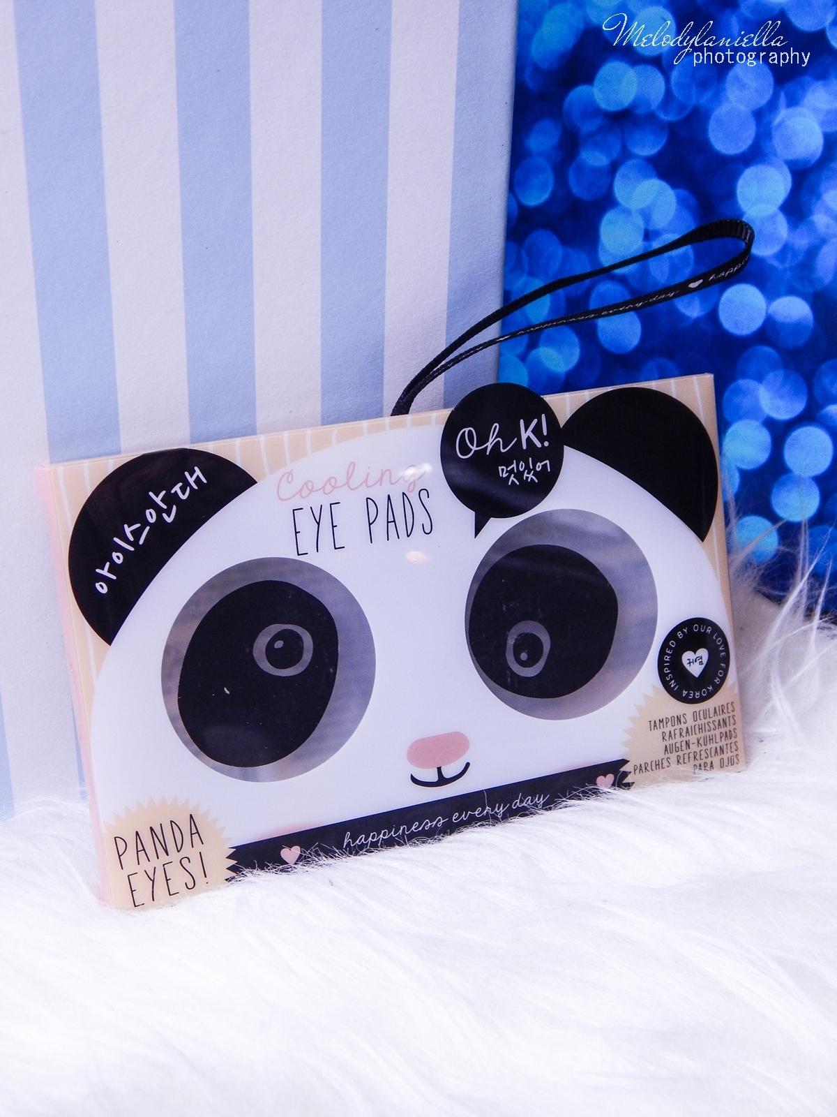 14 Oh! K Life koreańskie kosmetyki i gadżety słodkie dziewczęce dodatki maska do twarzy panda kosmetyczka w kształcie pandy lodowe płatki chłodzące okłady na oczy przeciw sińcom jak pozbyć się sińców pod oczami