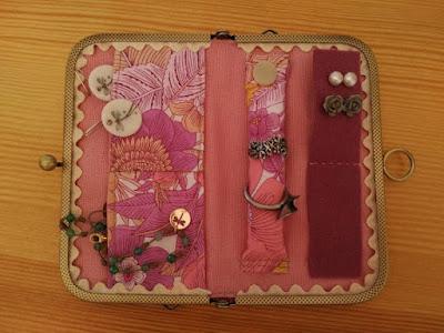 costura, boquilla, joyero viaje, jewellery wallet, bijoux