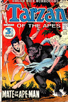 Tarzan v1 #209 dc comic book cover art by Joe Kubert