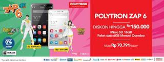Polytron Zap 6 Promo Diskon + Free microSD 16 GB + Perdana Indosat