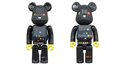 PAC-MAN 40th Anniversary Be@rbrick Vinyl Figures by Medicom Toy