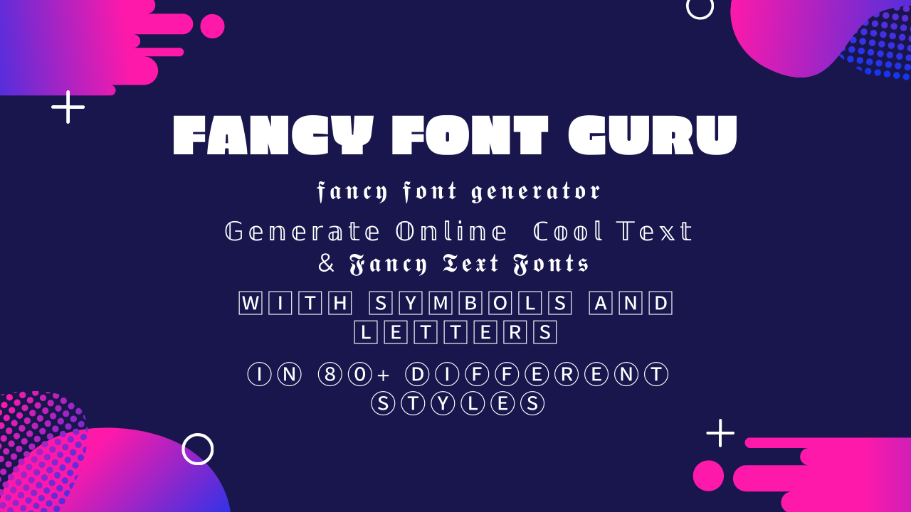 fancy Text generator