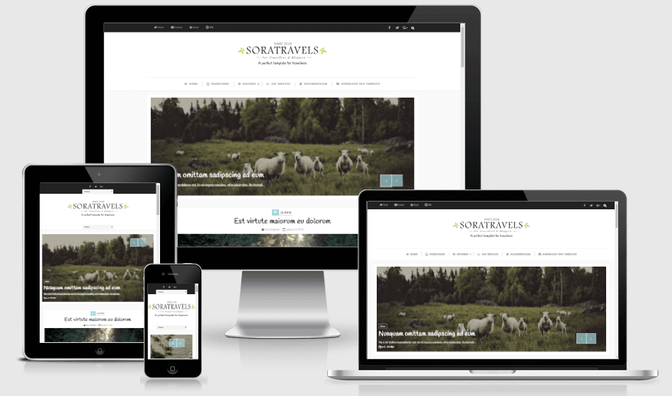 Sora Travels - Responsive Creative Blogger Template