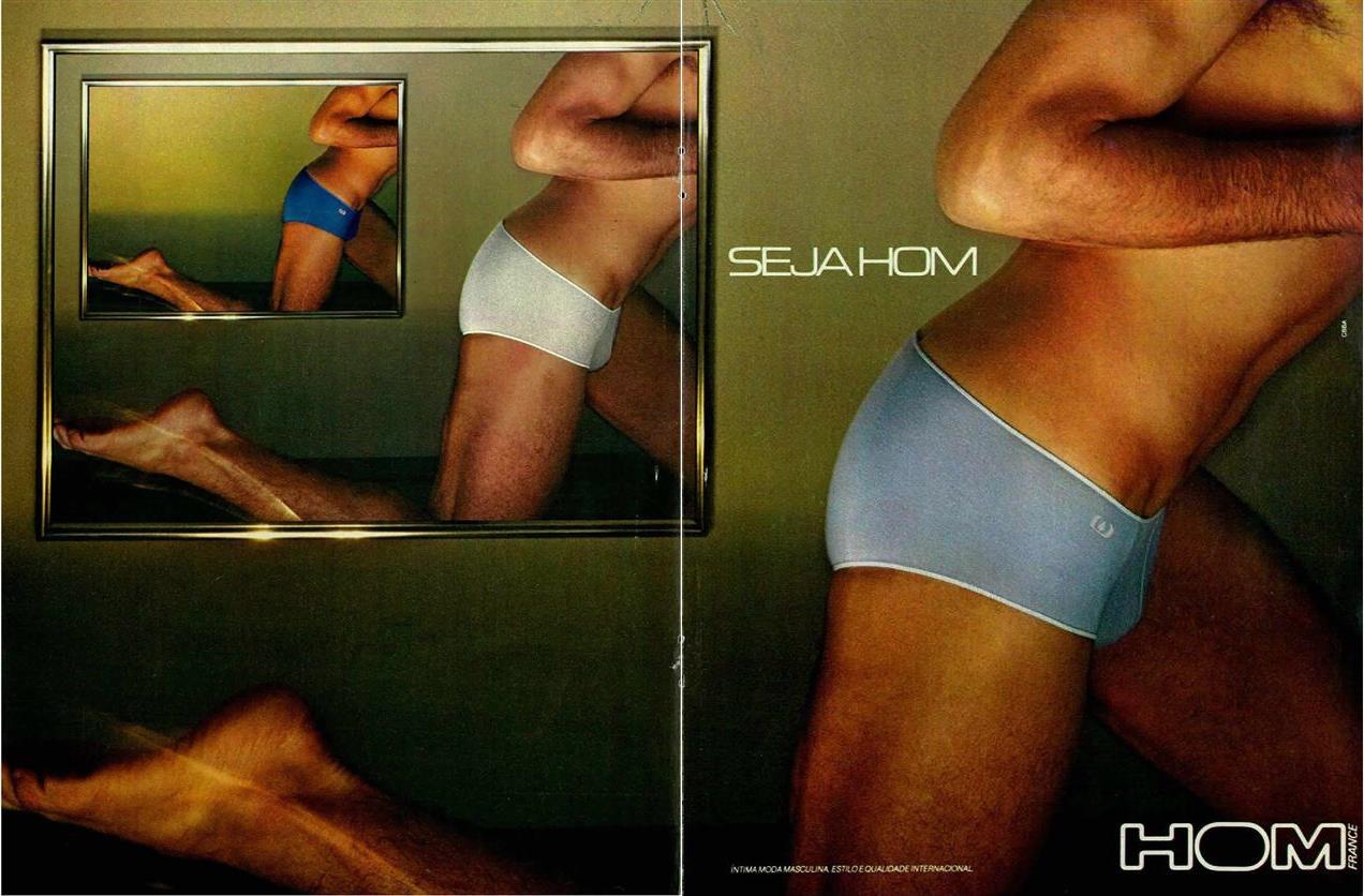 Anúncio de 1981 das Cuecas Hom veiculado em revistas brasileiras