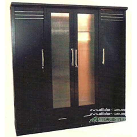 lemari pakaian minimalis 4 pintu heloconia
