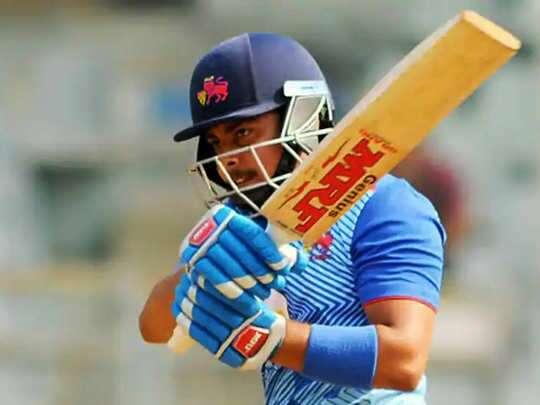 पृथ्वी साव का फिर कमाल, कर्नाटक के खिलाफ खेली 165 रन की पारी, जड़े 17 चौके और 7 छक्के