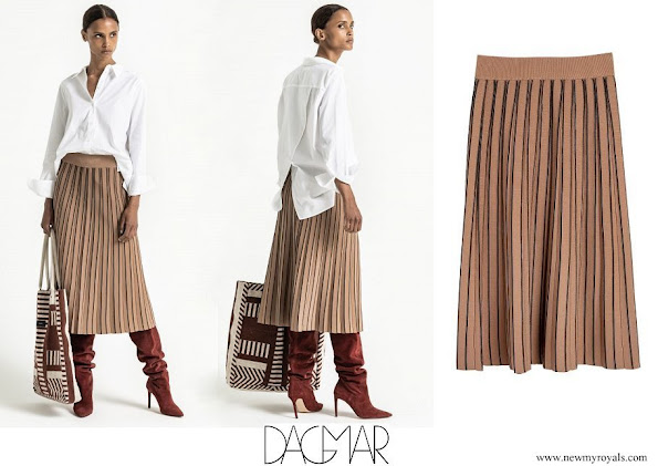 Princess Madeleine wore Dagmar Sabina pleated midi skirt