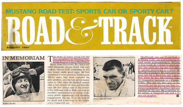 Road Racing Champion David MacDonald 1964 Rose Hills Cemetery