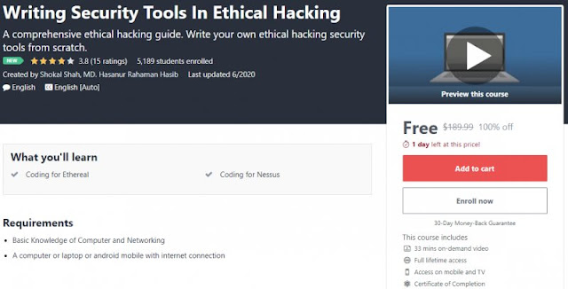 [100% Off] Writing Security Tools In Ethical Hacking| Worth 189,99$