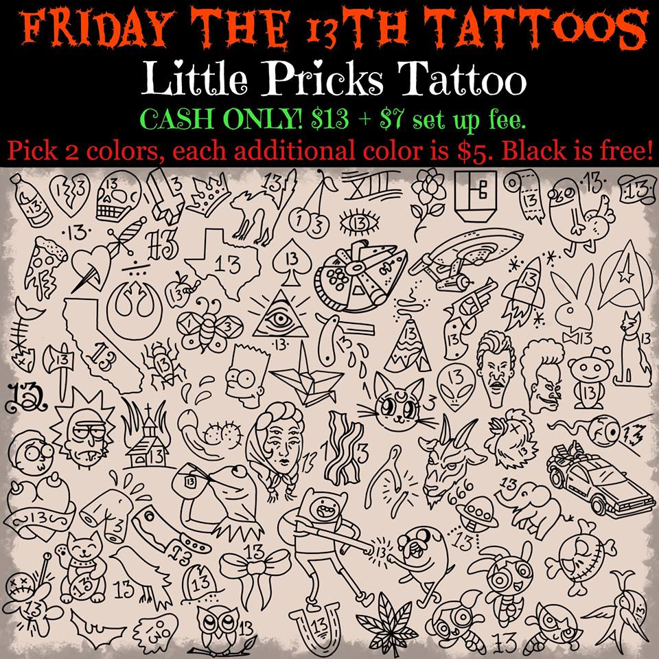 559d61040 Tattoo Nerd: Friday the 13th Tattoo Specials; What You Need to Know