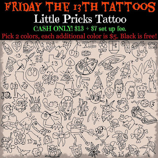 Tattoo nerd friday the 13th tattoo specials what you for Black friday tattoo deals