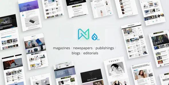 Best Newspaper Optimized Drupal 9 RTL Magazine Theme