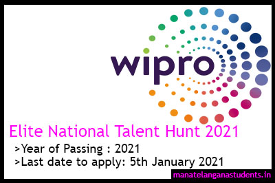 Wipro Elite National Talent Hunt 2021
