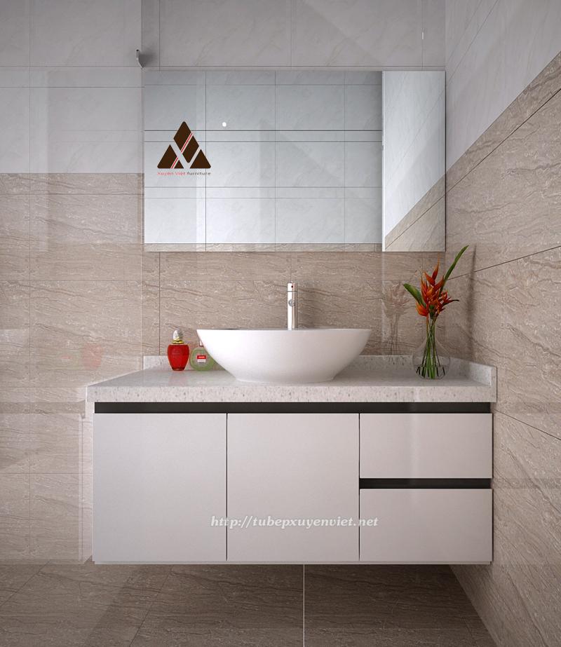 Mẫu tủ lavabo nhựa chịu nước cho nhà tắm hiện đại