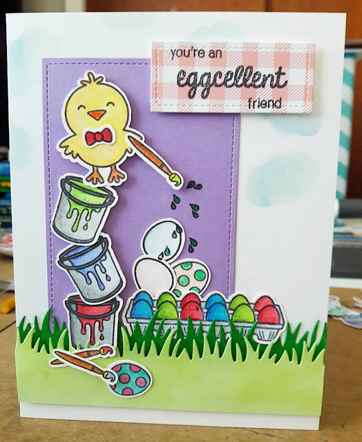 Sunny Studio Stamps: A Good Egg Customer Card by Petra