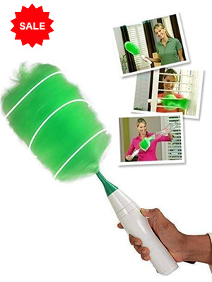 Electric Duster with Feather Spin Motorised Cleaning Brush for Home, Office, Car