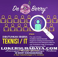 Loker Surabaya di De Berry Sukomanunggal Oktober 2019