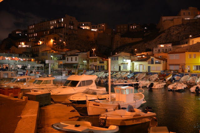 Vallon des Auffes at night