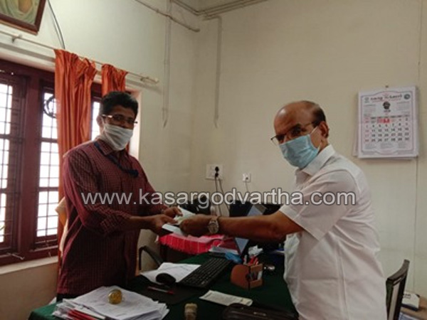 Chalanam, Kasaragod, Kerala, Pension, Cash, COVID-19, Pension amount donated to CMDRF