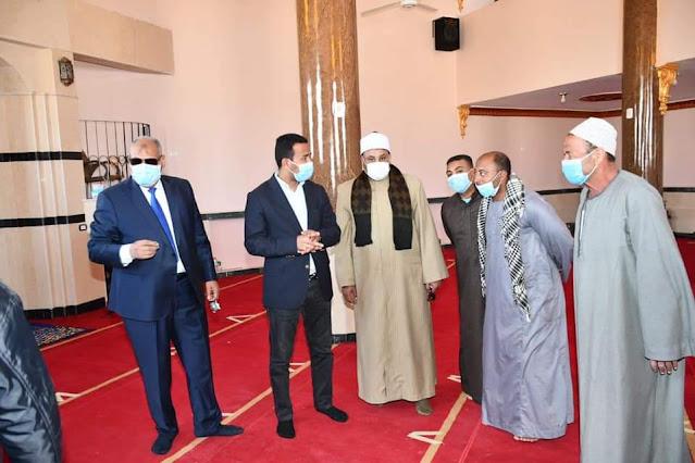 """نائب محافظ الفيوم يفتتح مسجد """"مصطفى شرابي"""" بعد إحلاله وتجديده"""
