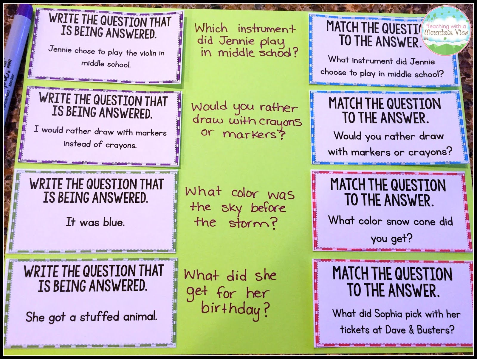 Restating the Question Lesson   Teaching With a Mountain View   Bloglovin' [ 1206 x 1600 Pixel ]