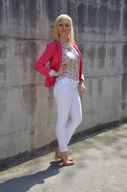 how to wear fucsia outfit blazer fucsia outfit fucsia come abbinare il fucsia abbinamenti fucsia fucsia blazer how to wear fucsia mariafelicia magno color block by felym fashion blogger italiane outfit aprile 2017 outfit primaverile  april outfit spring outfit fashion bloggers italy
