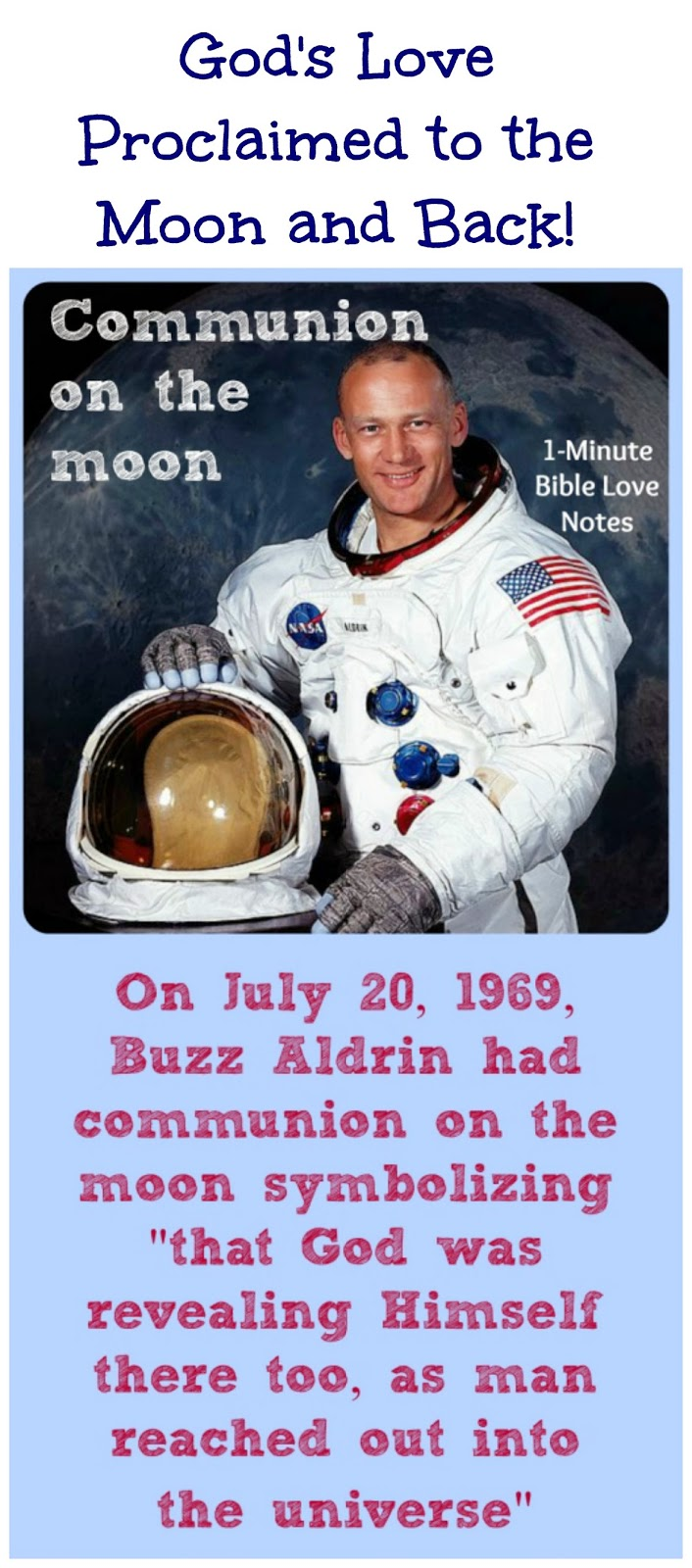 Buzz Aldrin moon communion, Communion on the Moon, Apollo 11 moon communion