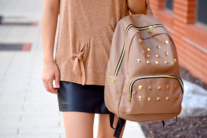 cute neutral backpack from emma & chloe