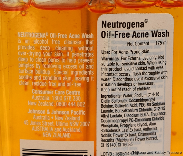 Neutrogena Oil free Acne Wash photos