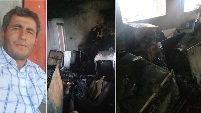 Yaylak'ta ev yangını