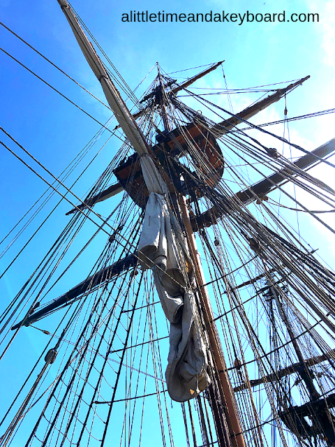 Looking up on the U.S. Brig Niagara at Kenosha Tall Ships