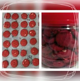 Resipi Biskut Red Velvet