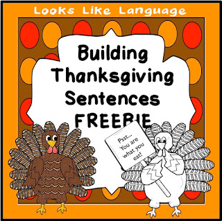 Building Thanksgiving Sentences with pictures from Looks Like Language