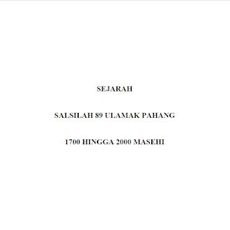 EBOOK SALSILAH 89 ULAMAK PAHANG