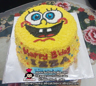 Kue Tart Spongebob Buttercream