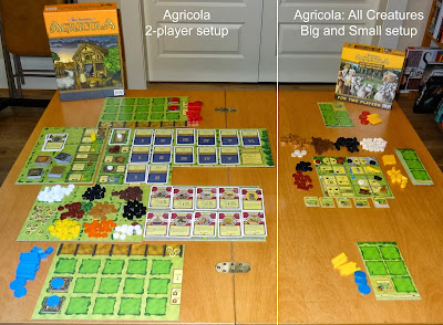 agricola all creatures great and small set up side by side compare