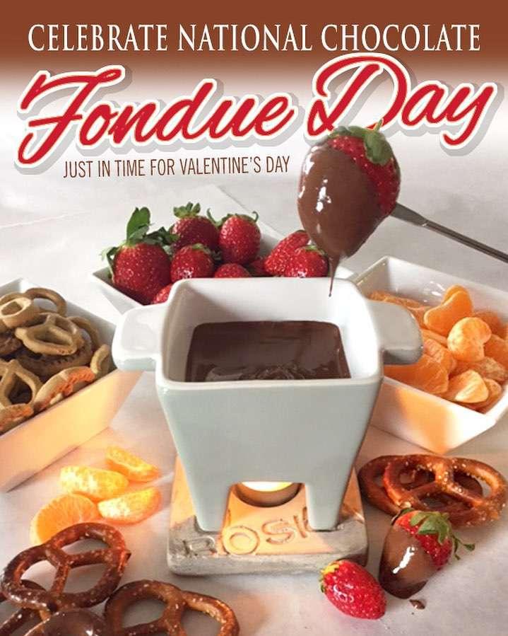 National Chocolate Fondue Day Wishes