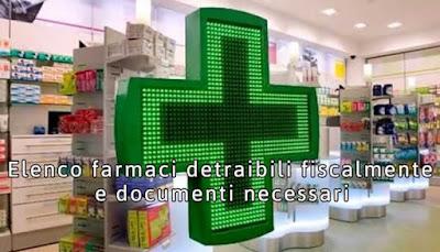 elenco farmaci detraibili fiscalmente
