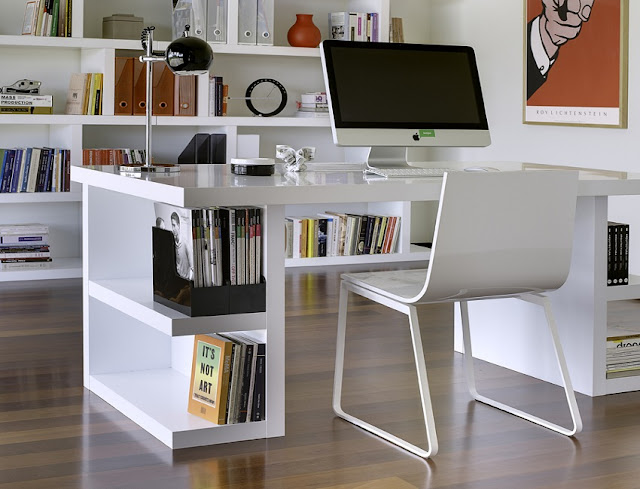 buy modern home office desk sets white