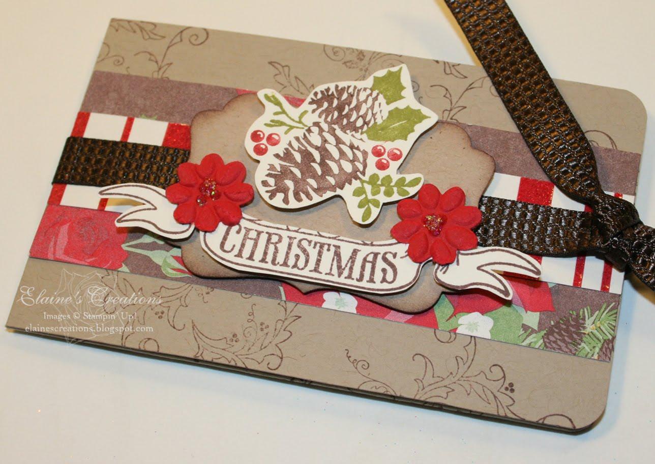 Elaine's Creations: Christmas Gift Card Holder