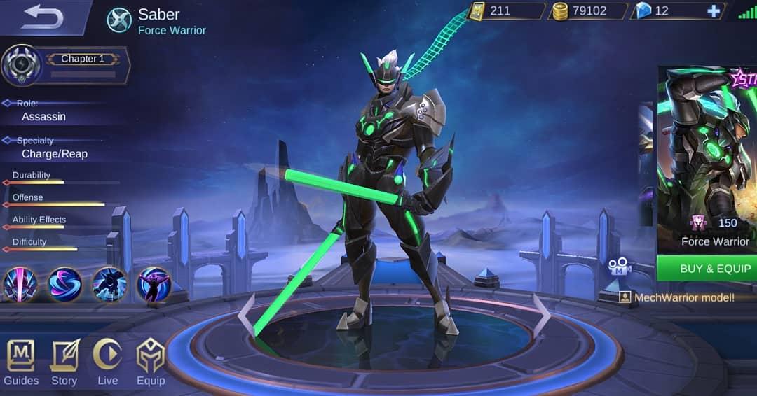 Keren Banget Skin Starlight Saber di Rework Mobile Legends 2