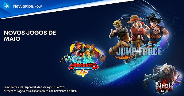 JUMP FORCE, Nioh e Streets of Rage 4 chegam este mês ao catálogo do PlayStation™Now